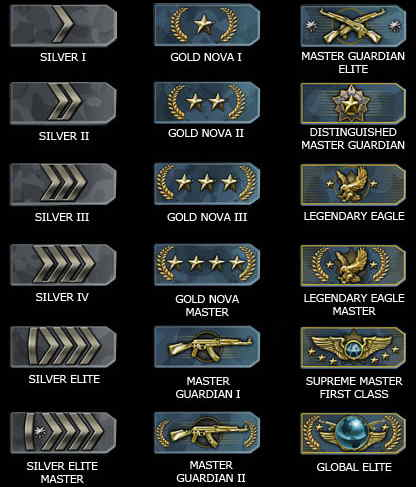 how to see csgo rank